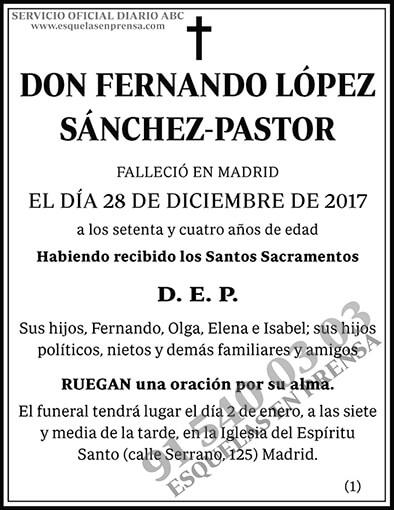 Fernando López Sánchez-Pastor